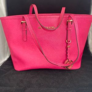 Michael Kors Pink Structured Tote Shoulder Bag